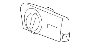 2004-2007 Ford Freestar Headlamp Switch 4F2Z-11654-BAA