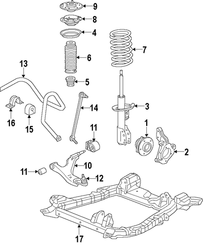 suspension components for 2015 cadillac srx