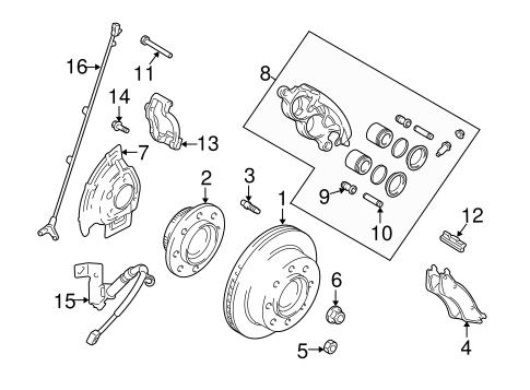 Dodge Ram 2500 Ke Caliper Parts Diagram