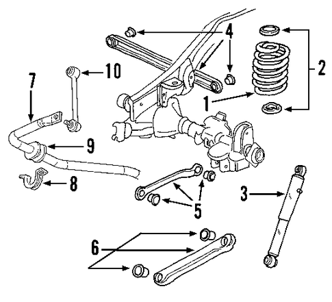 Diagrams For Car Repairs also 5tl64 Replace Upper Control Arm Bushings 96 Chevy Trailblazer 2wd together with 2002 Saturn Vue Fuse Box Diagram also 2004 Chevy Avalanche Tailgate Parts as well 4mf3v Chevrolet S10 Blazer 4x4 Mid Size 2001 Chevrolet. on 2003 trailblazer suspension diagram