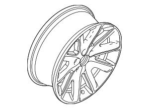 2009-2012 Ford Flex Wheel  Alloy BA8Z-1007-C