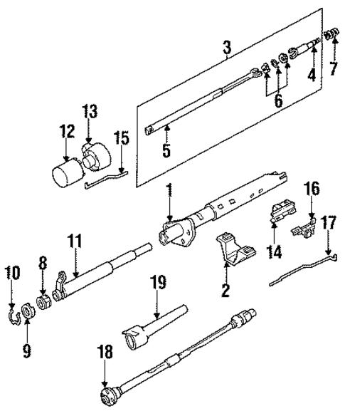 LOWER BEARING SNAP RING For 1991 Oldsmobile Bravada