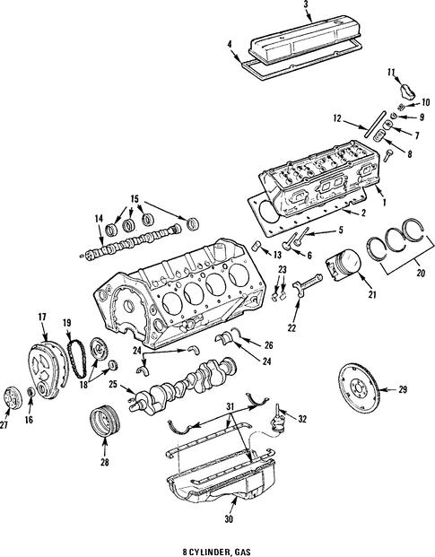 valve cover for 1985 oldsmobile delta 88