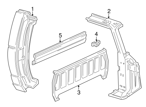 Side Panel And Components Scat on Mazda B3000 Parts Catalog