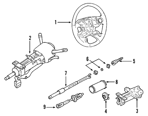 Steering Column Scat on gmc yukon suspension parts