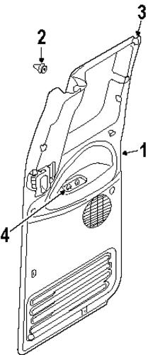 DOOR TRIM PANEL PIN - 2001 Dodge Ram 1500 (6505878AA)