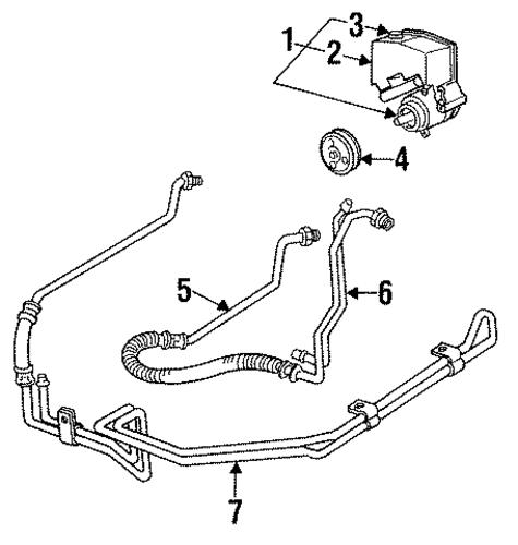 1993 Pontiac Grand Prix Transmission: PUMP & HOSES For 1992 Chevrolet Lumina (Base