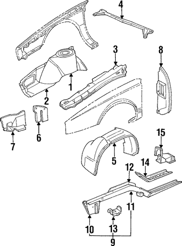 service manual  1994 cadillac seville splash shield