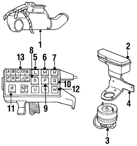 headlamp components for 1993 chrysler new yorker