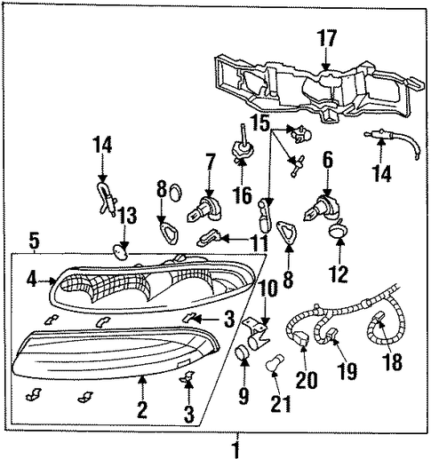 service manual  how to replace headl bulb 1996 oldsmobile