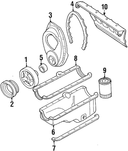 pulley for 1994 gmc c1500 pickup
