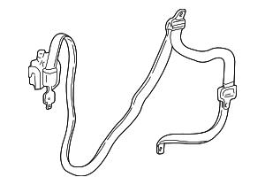 2002 Chrysler Sebring Belt & Retractor SP331L5AF