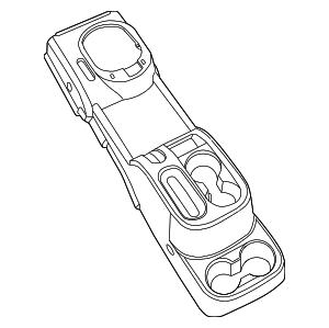 2007-2010 Jeep Wrangler Console Assy 1MV281D5AA