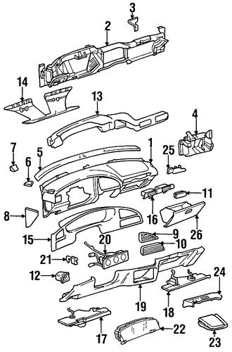 Instrument Panel For 1996 Buick Skylark  Custom