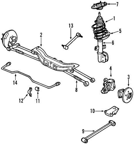 rear suspension for 2013 chevrolet impala  ltz
