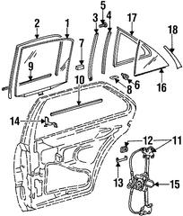 1998 1999 Mercedes-Benz S320 Belt W'strip 140-735-12-65