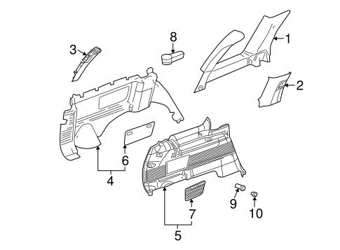 Interior Trim Quarter Panels For 2006 Chevrolet Trailblazer