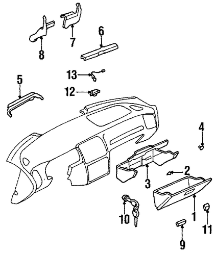 BODY/INSTRUMENT PANEL for 1999 Subaru Legacy #2