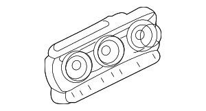 2009 Lincoln MKZ Temp Control 8H6Z-19980-CA