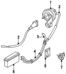 1989-1995 Dodge Spirit Vacuum Hose 4104272