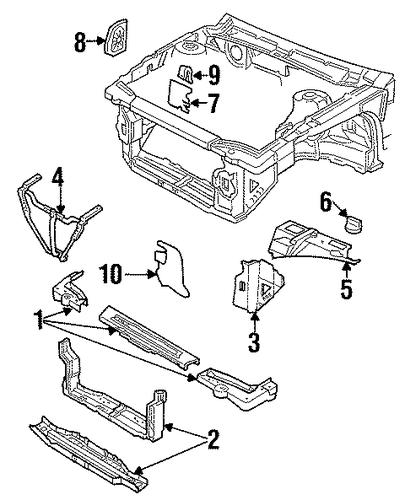 oem radiator support for 1997 pontiac grand am