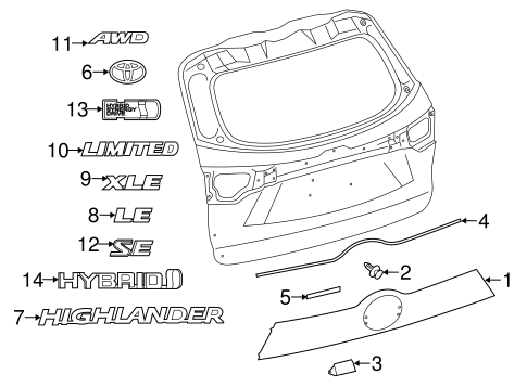 Toyota Tundra Front Bumper Parts Diagram