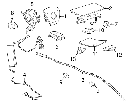 Cadillac Cts Airbag Sensor Location