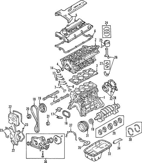 Tiburon Engine  Engine Parts Parts