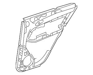 2012-2015 Mercedes-Benz ML350 Door Trim Panel 166-730-02-70-7M55