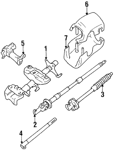 genuine oem steering column components parts for 1994 toyota pickup dlx
