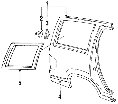 Exterior Trim Quarter Panel For 1994 Ford Explorer