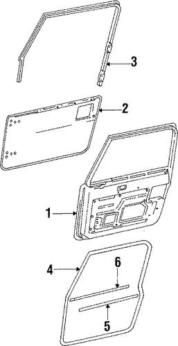 door  u0026 components for 1990 jeep wrangler