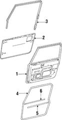 1988-1995 Jeep Wrangler Belt W'strip 55024254AB