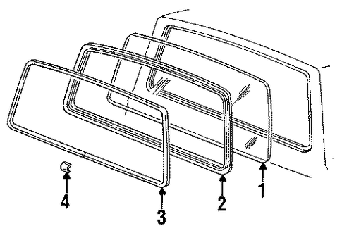 Ford weatherstrip parts #9