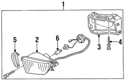 Maxima Parts A32b 1995 1999 Body Electrical Fog Lamp