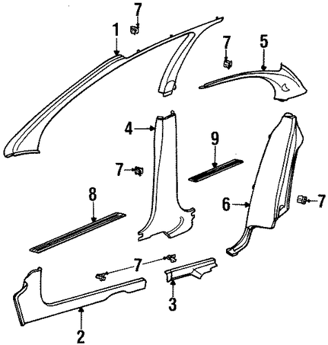 rear sill plate for 1997 saturn sl2