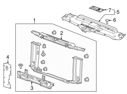 radiator support for 2015 chevrolet silverado 2500 hd