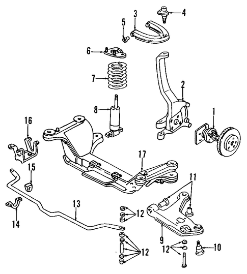 upper control arm for 1996 chevrolet camaro