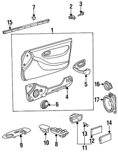 Genuine Oem Interior Trim Door Parts For 1999 Toyota Celica Gt Olathe Toyota Parts Center