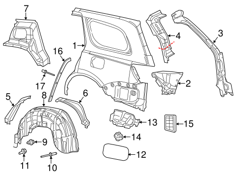 Quarter Panel And Components Scat
