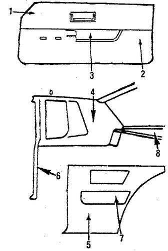 oem interior trim for 1986 pontiac grand prix