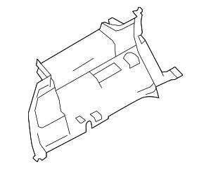 2013-2015 Ford Flex Lower Qtr Trim DA8Z-7431113-BA
