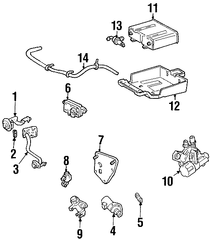 2001-2004 Ford Escape Idle Valve YL8Z-9F715-AA
