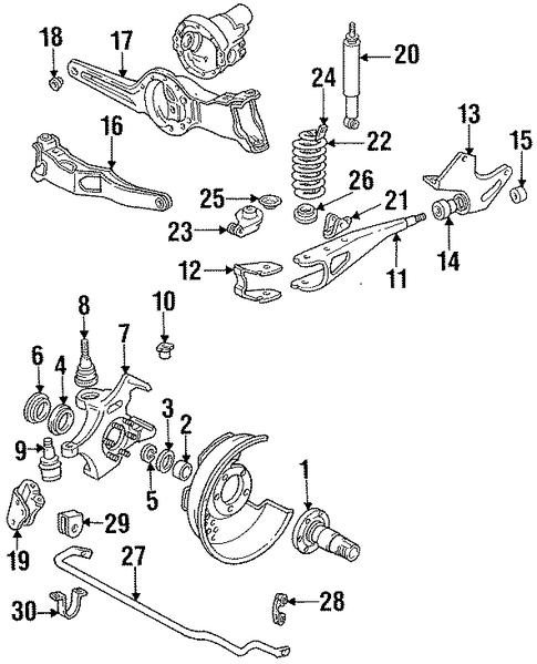 1991 mustang strut diagram