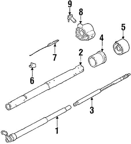 steering column  u0026 wheel parts for 1989 chevrolet suburban