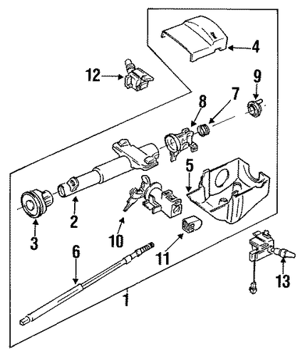 1996 Chevy Cavalier Wiper Transmission on Gm Parts Diagrams For 2006 Hummer H3