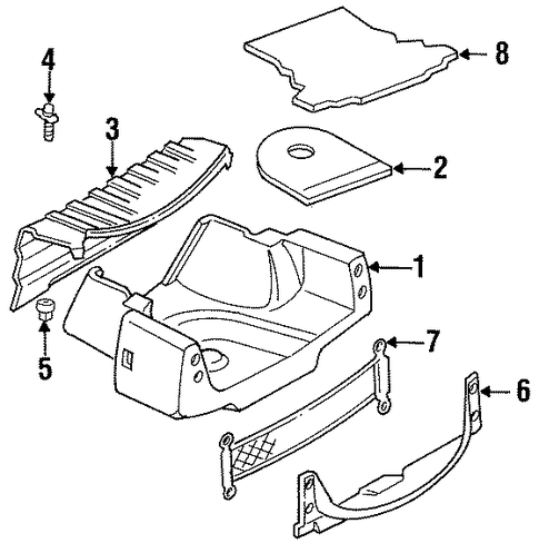 Interior Trim Rear Body Parts For 1998 Cadillac Deville