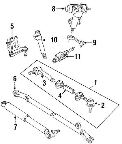 steering gear  u0026 linkage for 1991 toyota pickup