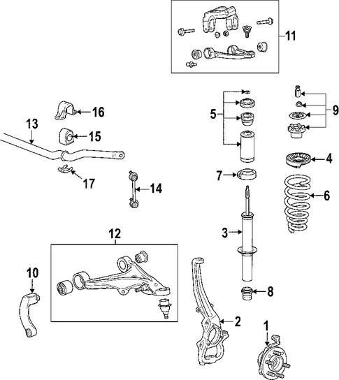 cadillac sts parts catalog