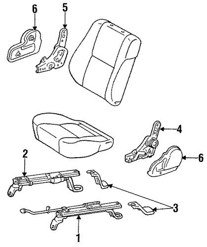 genuine oem manual seat tracks  u0026 components parts for 1994 toyota land cruiser base